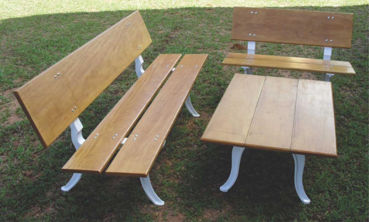 móveis de jardim mesas e bancos para jardim #8C6F3F 1504x905